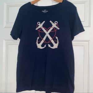 J Crew Collector Tees Anchor T-Shirt Top
